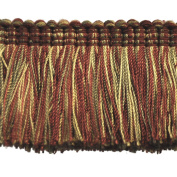 5.1cm Brushed Fringe on 25-Yard Roll, Garnet and Gold