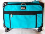 Medium Turquoise Mascot Tutto Sewing Machine on Wheels Case Carrier