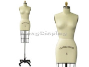 (ST-SIZE6) Professional Dress Form Female Half Body Size 6 Collapsible shoulder
