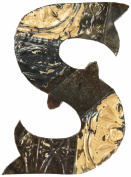 ZENTIQUE Mediaeval Patched Metal Letter, Monogrammed S