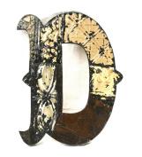 ZENTIQUE Mediaeval Patched Metal Letter, Monogrammed D