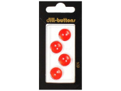 Dill 2 Hole Buttons 1.3cm . Red #604 4pc.
