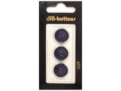 Dill 2 Hole Buttons 1.6cm . Navy #1409 3pc.