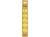 Dill 2 Hole Buttons 1.9cm . Yellow 5pc.