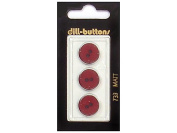 Dill 2 Hole Buttons 1.6cm . Wine Red #733 3pc.