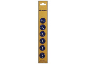Dill 2 Hole Buttons 1.4cm . Royal Blue 6pc