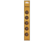 Dill 4 Hole Buttons 1.4cm . Brown 5pc