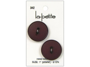 LaPetite 2 Hole Buttons 2.5cm . Burgundy #342 2pc.