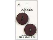 LaPetite 2 Hole Buttons 2.5cm . Burgundy #342 2pc.