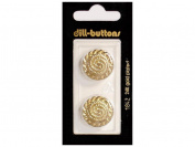 Dill Shank Buttons 2.1cm . Gold #1842 2pc.