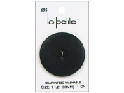 LaPetite 2 Hole Buttons 3.8cm . Black #695 1pc.