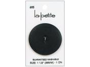 LaPetite 2 Hole Buttons 3.8cm . Black #695 1pc.