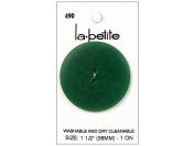 LaPetite 2 Hole Buttons 3.8cm . Dark Green #490 1pc.