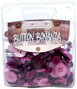 Button Bonanza .5Lb Assorted Buttons-Purple Passion
