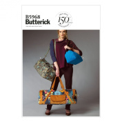 Butterick Patterns B5968 Satchel Sewing Template in 3 Sizes