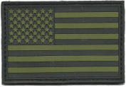 PVC Tactical USA Flag Patch - Olive Drab