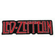 Led Zeppelin Rock Music Band Logo Iron on Patch Great Gifr for Men and woman by KLB TRADE size 11x3 cm