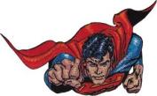 Superman DC Comics Movie Iron On Patch - Flying Man Fist Logo Applique