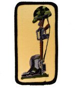 FIELD CROSS Front line burial Military Memoriam Honour Grave 10cm Embroidered Patch