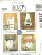 McCall's 2788 - Home Dec In-a-Sec sewing pattern - 4 Window Treatments
