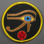 7.6cm Eye of Horus Egyptian Symbol Embroidered Cloth Patch, PA2