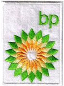 BP new logo iron-on / sew-on cloth patch