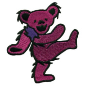 Grateful Dead - Mens Grateful Dead - Purple Dancing Bear Patch Purple