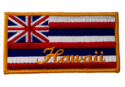 Hawaii Flag State Colours Iron on Patch D35
