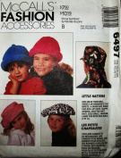 McCALL'S 6497 ~ 9 - CHILDREN HATS
