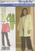 Simplicity 4971, Women's Wardrobe by Khaliah Ali, Size GG(26W-32W), OOP