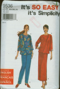 Simplicity Sewing Pattern #9536 ~ Misses' Knit Top, Skirt & Pants ~ XS-XL