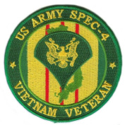 US Army Spec 4 Vietnam Veteran 10cm Patch