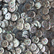 8mm Cup SEQUIN Facet Round PAILLETTES ~ SILVER HOLOGRAM Metallic ~ Loose sequins for embroidery, bridal, applique, arts, crafts, and embellishment. Made in USA.