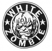 "WHITE ZOMBIE ROB Heavy Metal Logo Iron On Sew On Embroidered Patch 2.9""/7.4cm x 2.9""/7.4cm BY MNC SHOP"