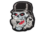 SLAYER Slaytanic Skull Logo Iron On Embroidered Patch Approx