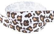 Hip Girl Boutique 5yd 2.2cm Leopard Ribbon-Grosgrain --White