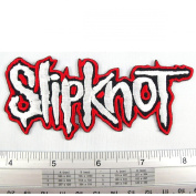 Slipknot Heavy Metal American Rock Band Iron on Patch Embroidered Racing DIY T-shirt Jacket 4.4cm x 11cm Red