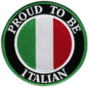 Proud To Be Italian Embroidered Patch Italy Flag Iron-On Biker Emblem