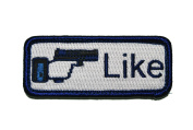 "Patch Frog's 'Like"" Gun Button Morale Patch with hook and loop back"