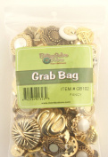 Buttons Galore Fancy Gold Grab Bag with Craft and Sewing Buttons, 180ml