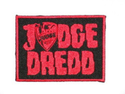 "JUDGE DREDD Logo 2000 AD Police Law Iron On Sew On Embroidered Patch 3.2""/8.4cm x 2.4""/6.2cm BY MNC SHOP"