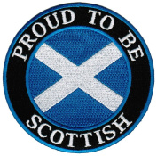 Proud To Be Scottish Embroidered Patch Scotland Flag Iron-On Biker Emblem