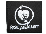 """RISE AGAINST Logo Iron On Sew On Punk Rock Embroidered Patch 3""""/7.5cm x 2.9""""/7cm BY MNC SHOP"""