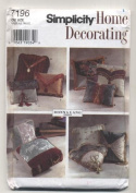 Simplicity Home Decoration Throw Pillows Sewing Pattern # 7196