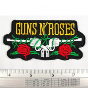 Guns N' Roses Vintage Cowboy Iron on Patch Embroidered DIY T-shirt Jacket 5.1cm x 8.9cm