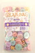 Buttons Galore Pastel Button Grab Bag with Craft and Sewing Buttons, 180ml