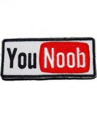 Patch Frog's You NOOB Morale Patch with hook and loop back