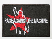 RAGE AGAINST THE MACHINE Logo Iron On Sew On Embroidered PatchApprox