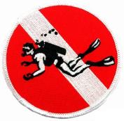 Skin Diver Patch Embroidered Iron On Scuba Diving Flag Emblem Souvenir