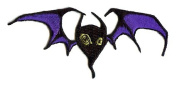 Alan Forbes Artist Patch - Creepy Gothic Blue Fly Bat